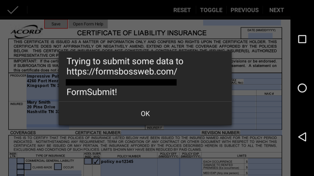 Forms Boss Web Android qPDF Notes Javascript Warning