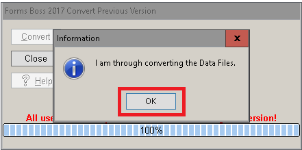 Forms Boss Convert Previous Version Convert Done Dialog