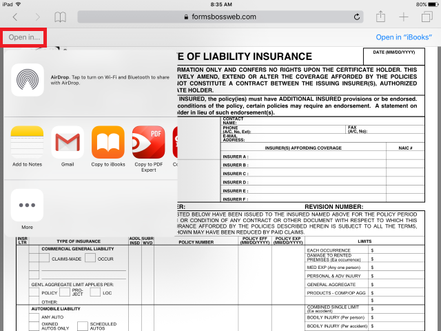 How to Setup and Use Your iPad to fill in ACORD Forms