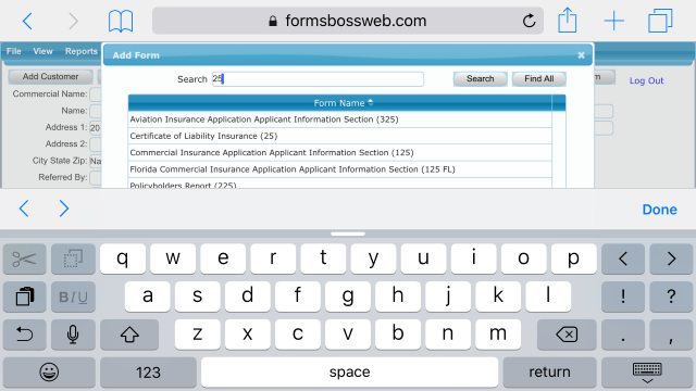 Forms Boss Web Search for Form