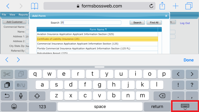 Forms Boss Web Choose Form